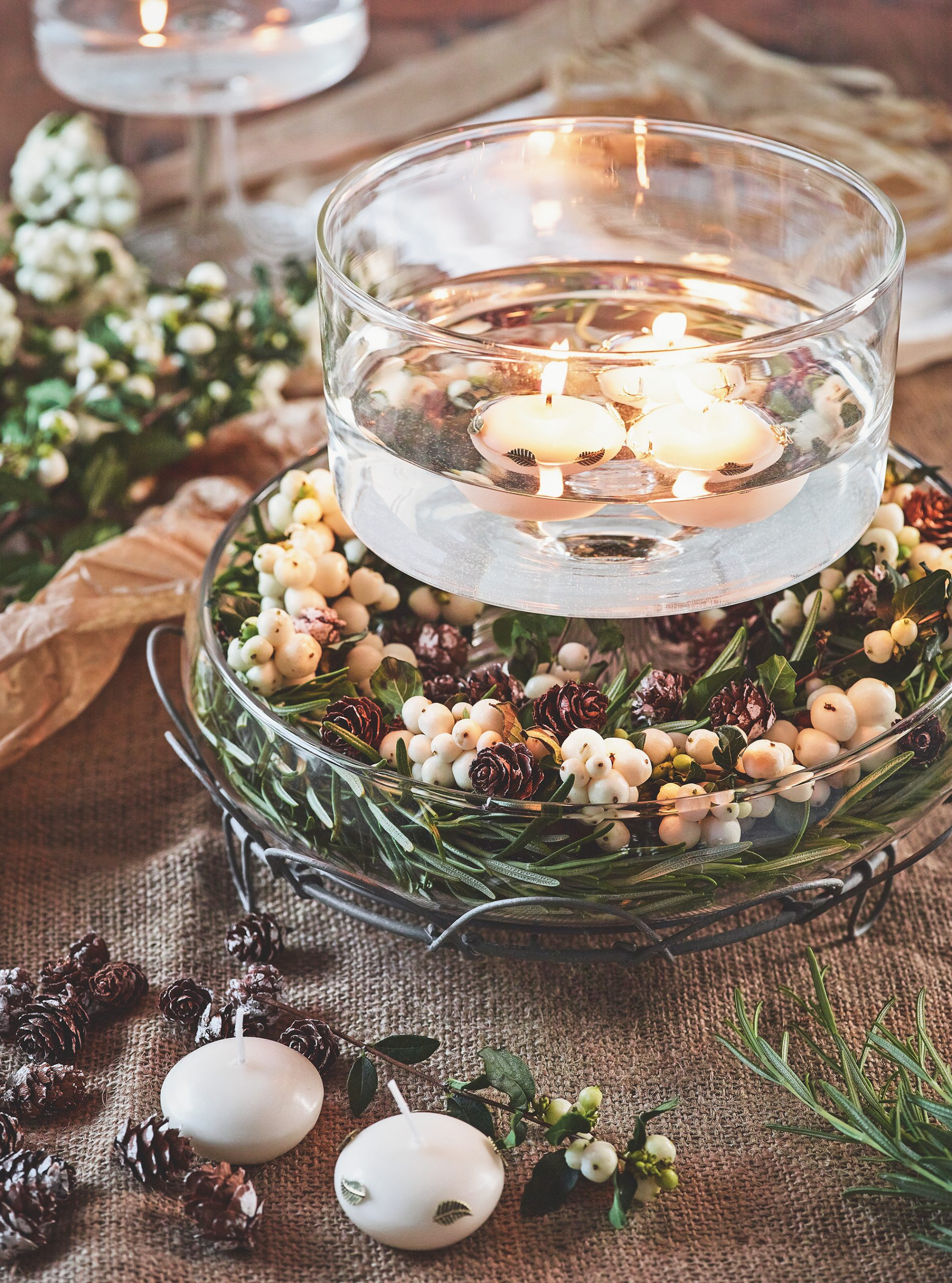 Christmas Table Decorations And Centrepieces Woman Home