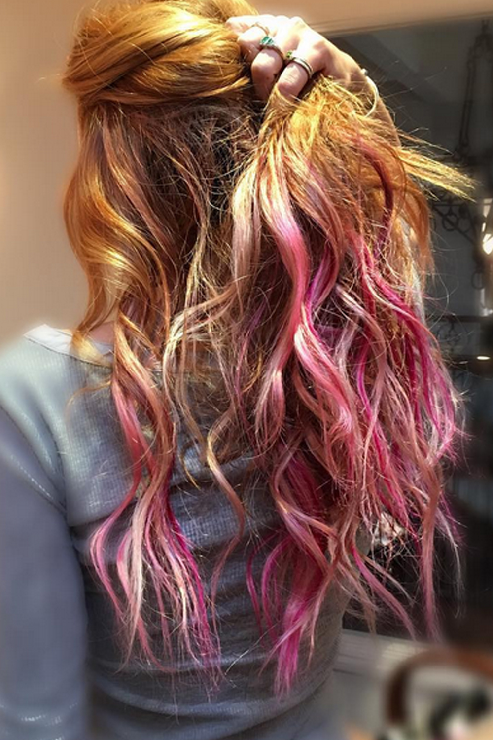 Dip Dye Hair Celebrity Inspiration Look