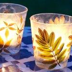 Easy Leaf Lantern Craft