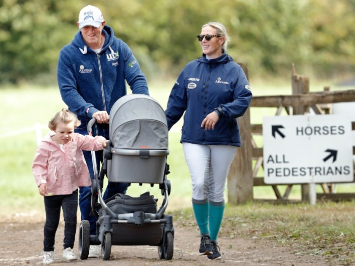 Zara Tindall with Mike Tindall and their two children