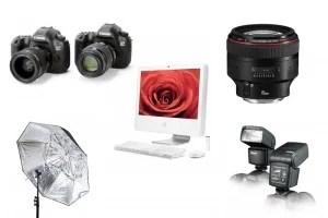 Studio photography kit list
