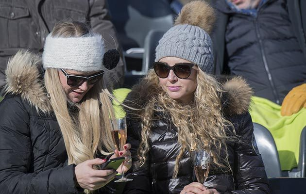 Champagne on snow