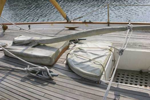s Covers over vulnerable varnished work make sense, but a complete cover will also protect the deck