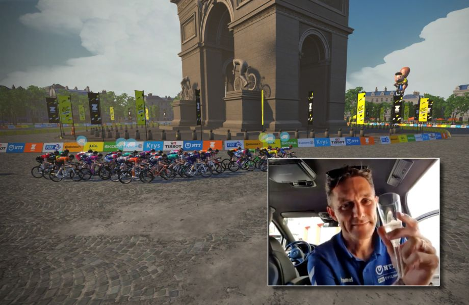Team NTT secure victory in all classifications at men's virtual Tour de France