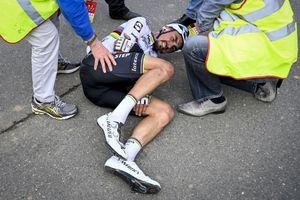 Julian Alaphilippe suffers broken hand in Tour of Flanders crash