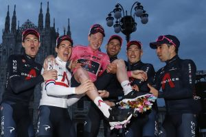 <div>Dave Brailsford: We've won a lot riding as an Ineos train but it's not as fun as this Giro d'Italia victory</div>