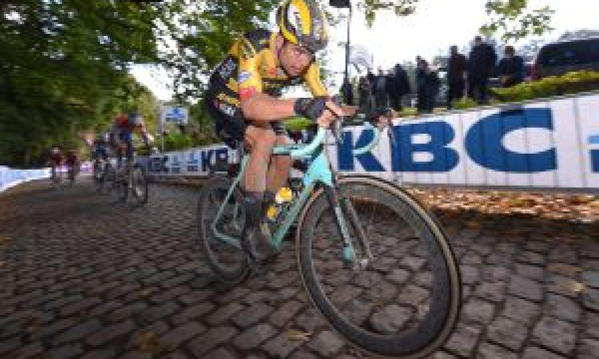 <div>Tour of Flanders 2020: Wout van Aert says he's focused on winning, 'not racing against Mathieu van der Poel'</div>