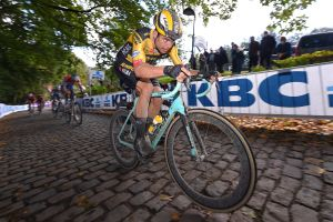 <div>Tour of Flanders 2020: Wout van Aert says he's focused on winning, 'not racing against Mathieu van der Poel'</div>