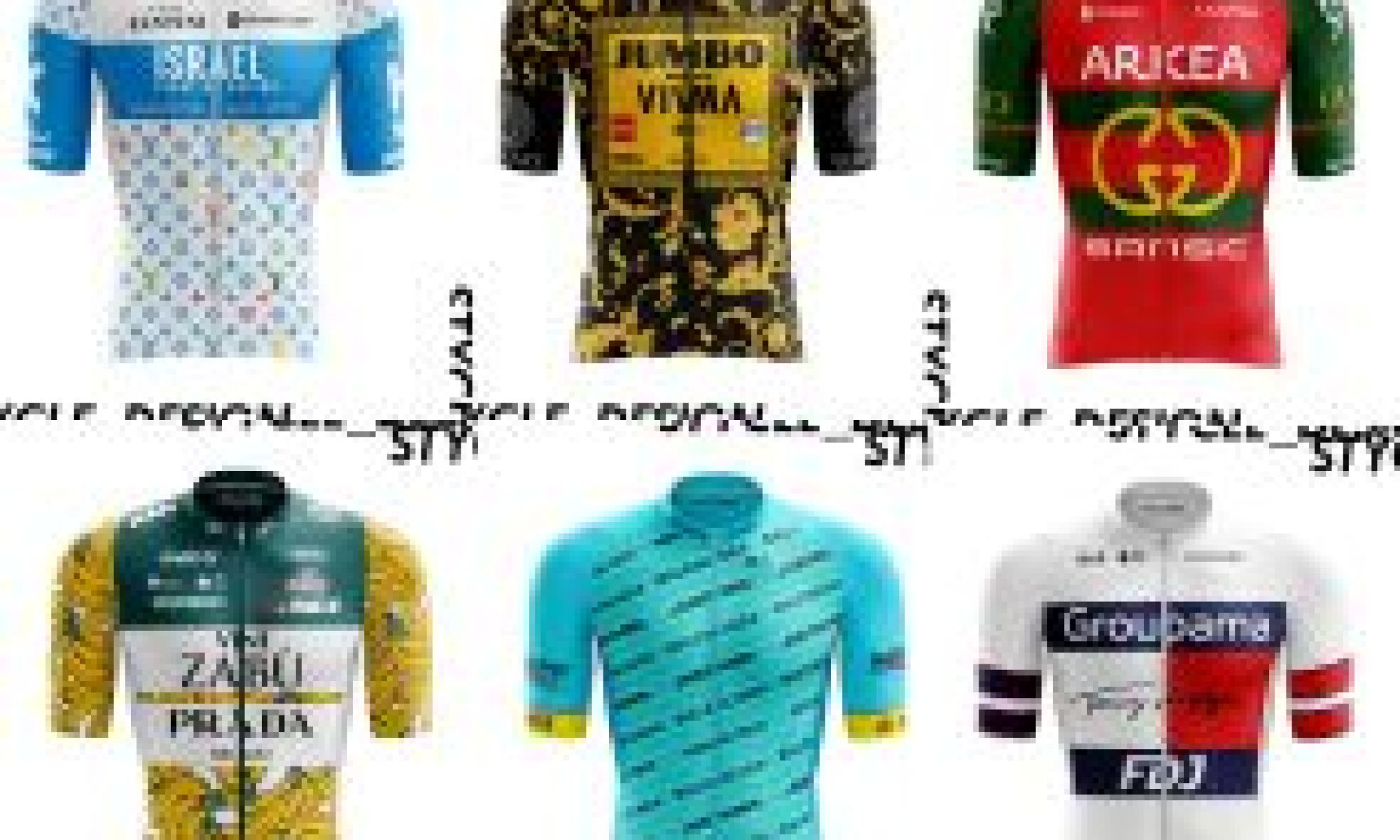After the new EF kit, one fan decided to give the entire peloton a high-fashion redesign