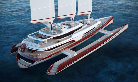 Dragonfly 80 Metre Trimaran Concept Superyacht World