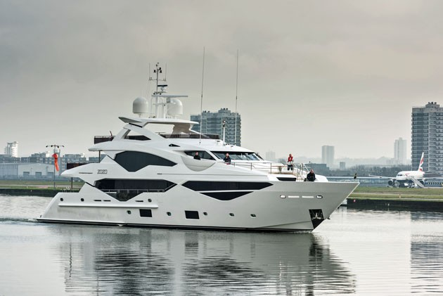Sunseeker 131 Yacht Closes London City Airport Runway