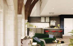 A church converted into flats where Gothic windows and stained glass meet LED lighting and bespoke fittings 1