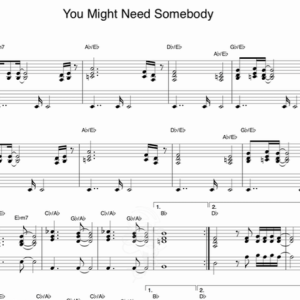 you might need somebody -Shola Ama