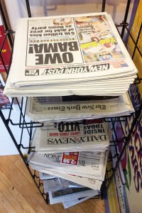 The world may not be upside down, but the newspapers are.