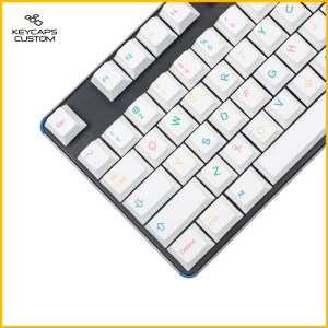Colorful-white-Coolkid-Naughty-PBT-keycaps-set-01