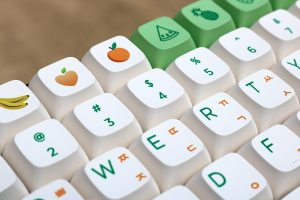 PBT-Fruit-Green-and-White-XDA-Keycaps-set-05