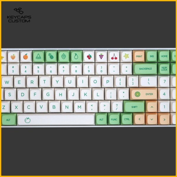 PBT-Fruit-Green-and-White-XDA-Keycaps-set-full