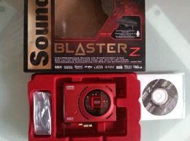 packaging sound blaster Z