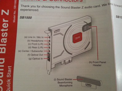 documentation sound blaster Z