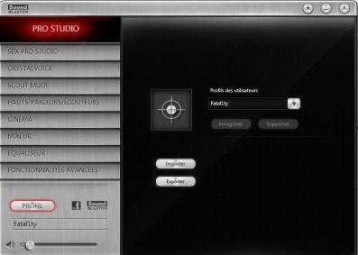 Sound_Blaster_Z Logiciel Profil