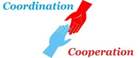 Difference between Coordination and cooperation with its comparison.