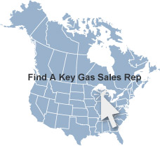 Key Gas Components sales map