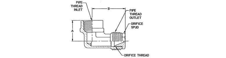 gas restrictor - threaded pipe inlet