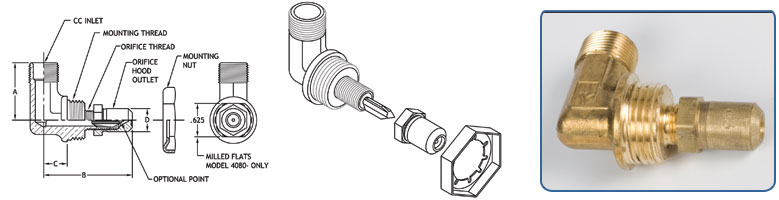 Compression Inlet - Orifice Hood Outlet