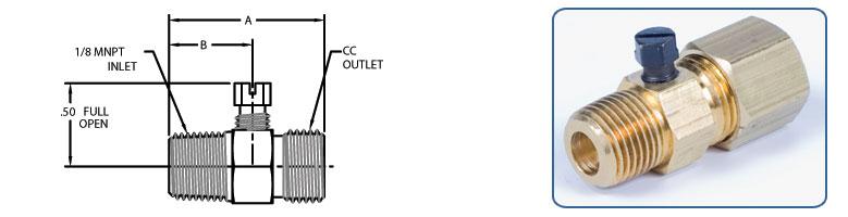 pilot adjusting valves