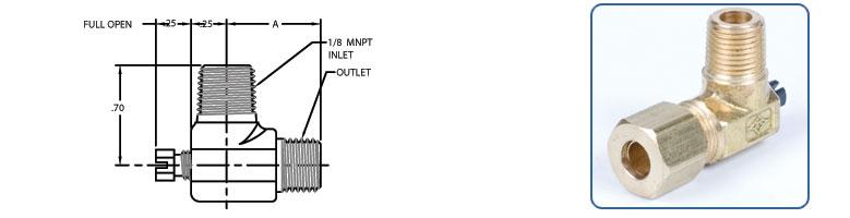 angled outlet pilot adjuster