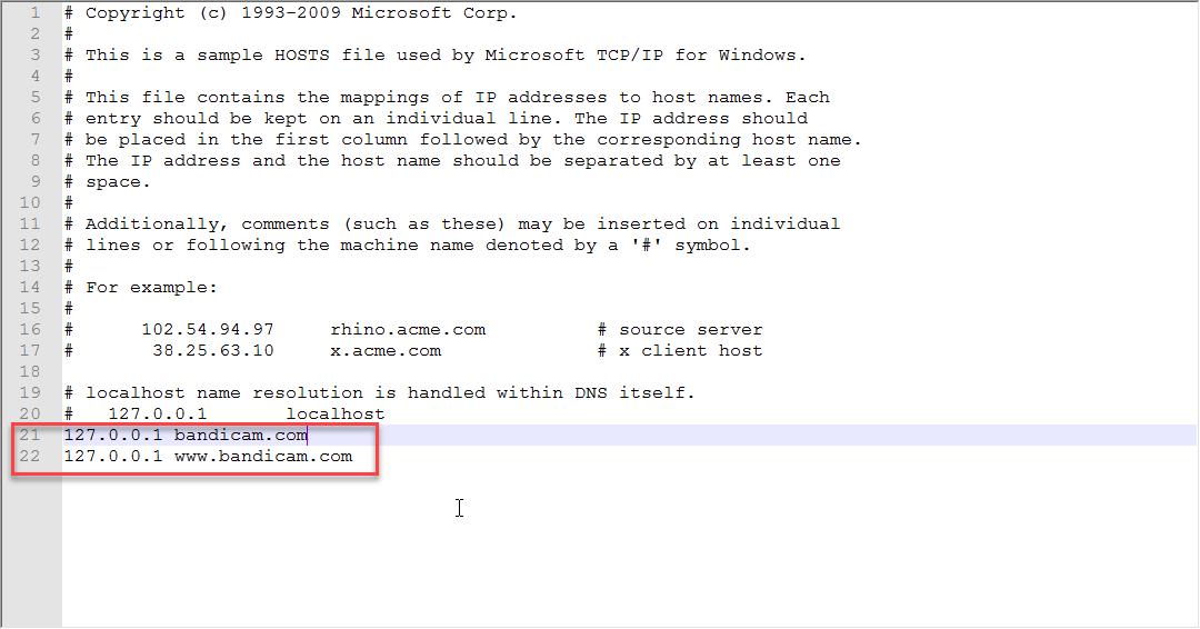 Bandicam-ға өз серверлеріңізге қосылуға тыйым салыңыз