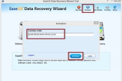 EaseUS Data Recovery 12 License Code