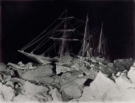 Endurance in the ice of the Weddell Sea.