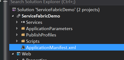 Application Manifest