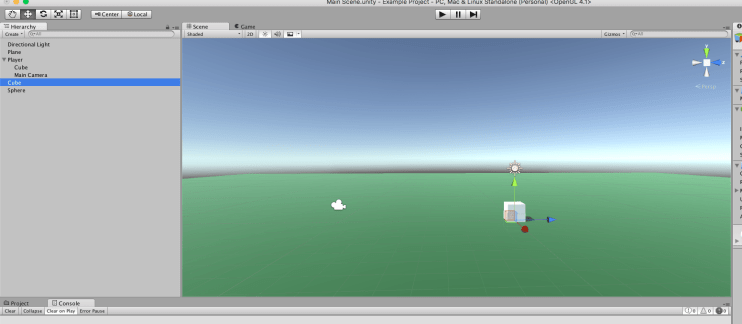 moving static objects in Unity 3d hierarchy view