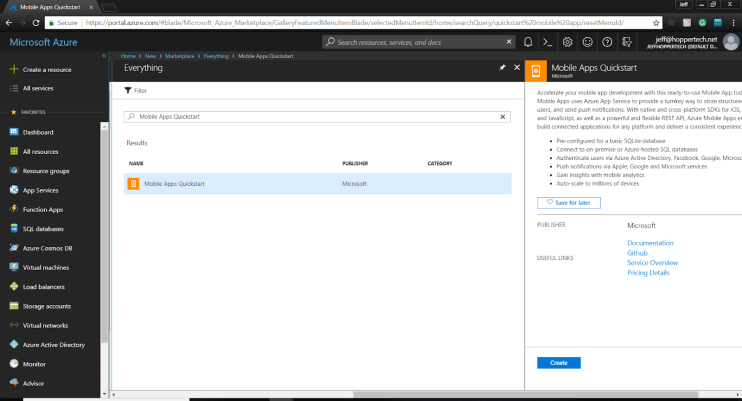 Getting Started with Xamarin Forms and Azure Mobile App Service