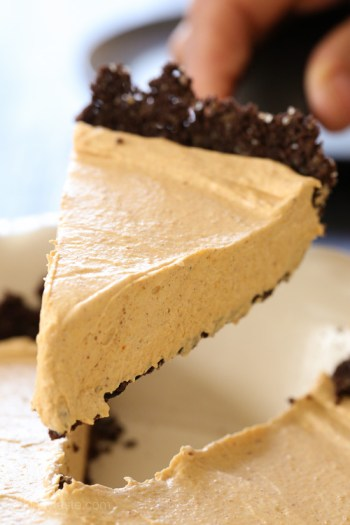 Easy No Bake Pumpkin Cheesecake-5
