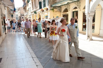 Striding out in Corfu