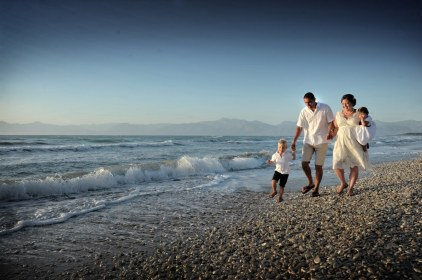 A family together in Corfu
