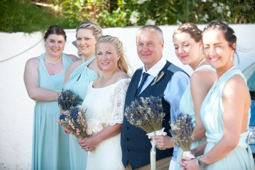 Wedding attendants and the bride