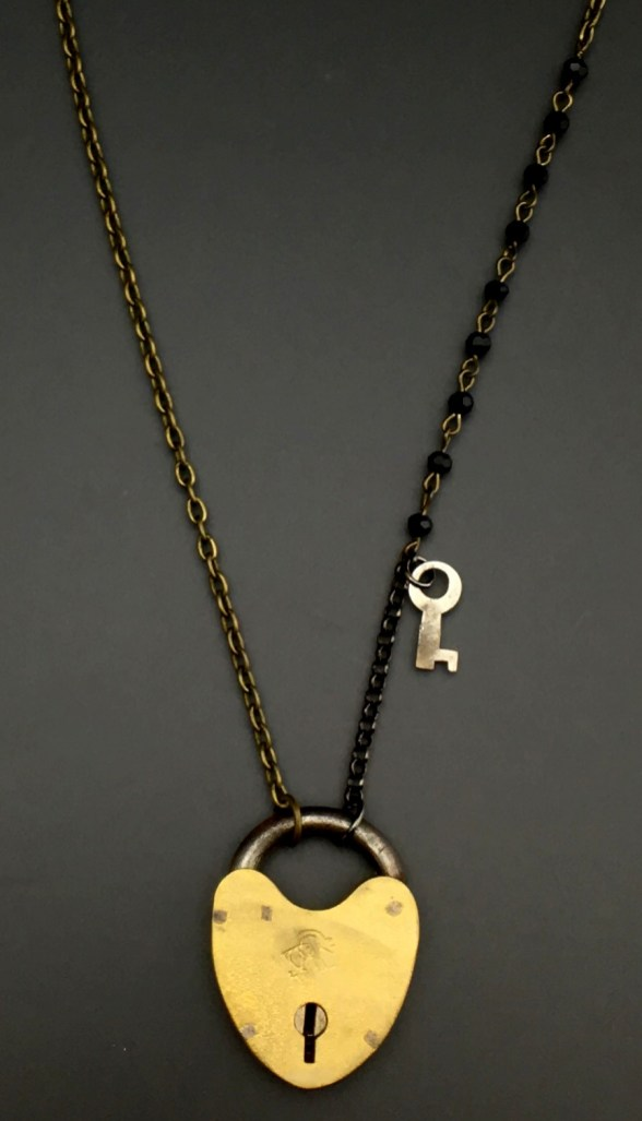 Antique Heart Padlock with Key - $77 (SW602)