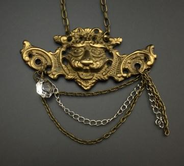 Antique Brass Lion Furniture Accent - $70 (SW807)