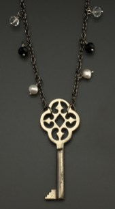 """Notre Dame"" Key from Germany with gemstones and pearls - $53 (SW803)"