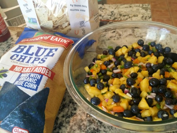 Pineapple Blueberry Salsa and Chips