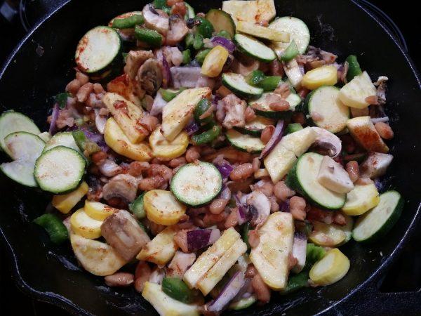 Veggies for Vegan Breakfast Hash
