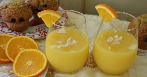 orange coconut mimosa