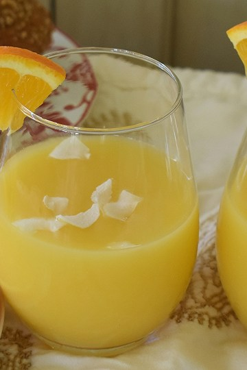 orange coconut mimosa