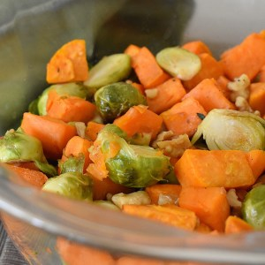 maple roasted fall vegetables