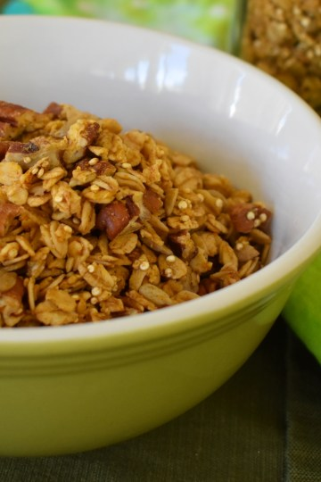 tasty pumpkin nut granola