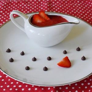 fresh strawberry sauce